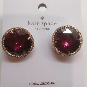 "Kate Spade New Fuchsia ""She Has Spark"" Earrings"